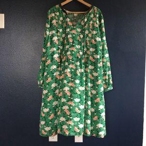 Tall Floral-print Midi Swing Dress